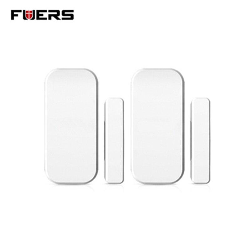 imágenes para Fuers Envío Libre 433 MHz Inalámbrico Puerta/Windows Sensores sensor de apertura de La Puerta para el Sistema de Alarma