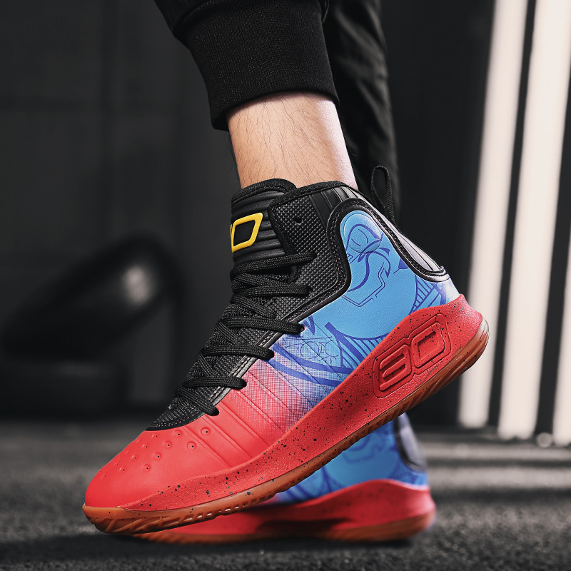 Новинка весны спортивной обуви для Для мужчин амортизирующие баскетбольные износостойкое покрытие предотвращает образование; нескользящ... - 2