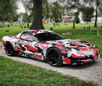 Black Red Grey Camo Vinyl Film Camouflage Car Wrap Film For Car Styling Bike Computer Laptop Scooter Motorcycle ORINO WRAPS