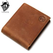 Men's Genuine Crazy Horse Leather Small Wallet Pocketbook Purse Low Price