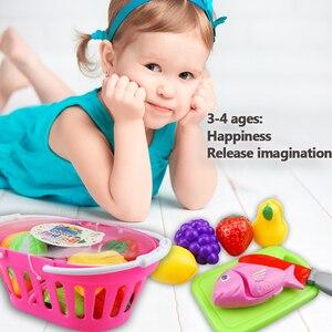Image 5 - 12 23 шт Детская кухня ролевые игры игрушки для резки фруктов овощей еда миниатюрная игра Do House развивающая игрушка подарок для девочки ребенок