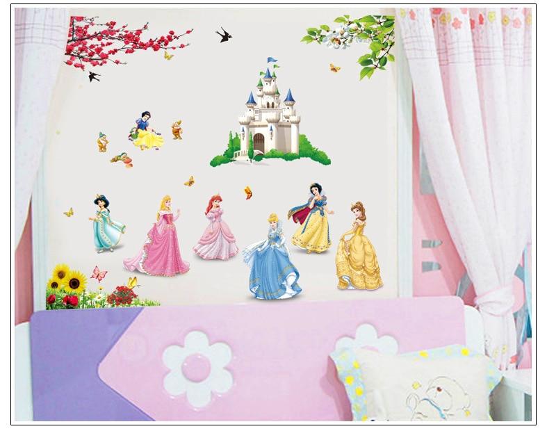 Giant Princess Belle Cinderella Snow White Girls Wall Sticker 90 X