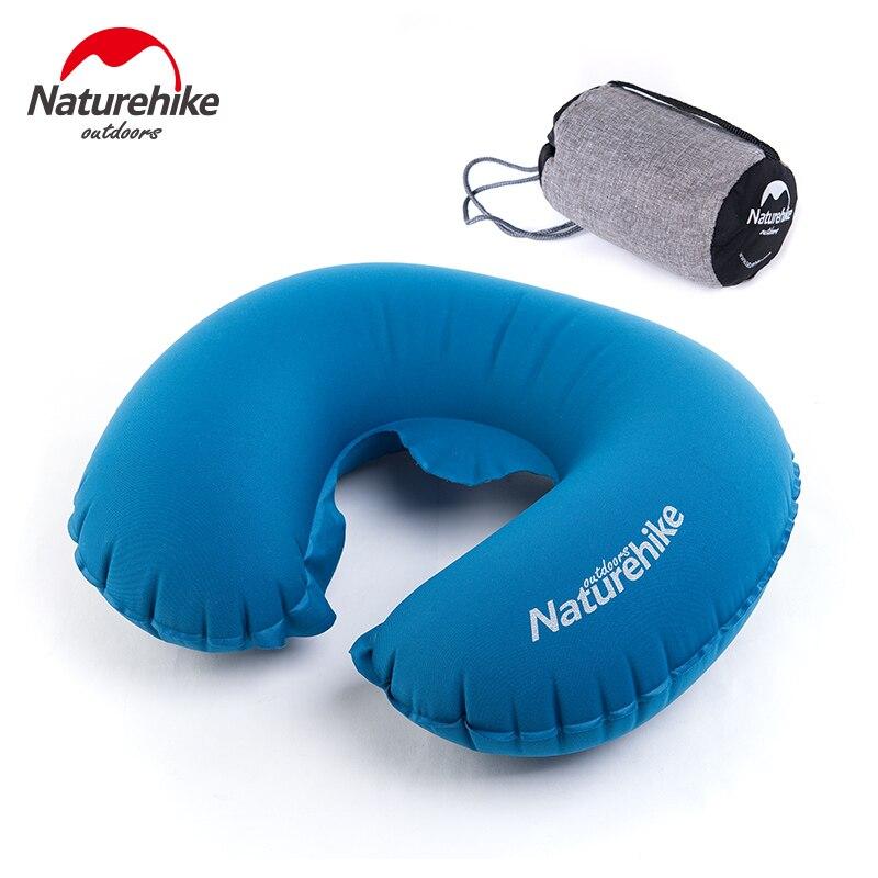 Comfortable Naturehike U-Shape Travel Pillow Portable Folding Pillow UltralLight Air Inflatable Travel Neck Pillow Air Cushion