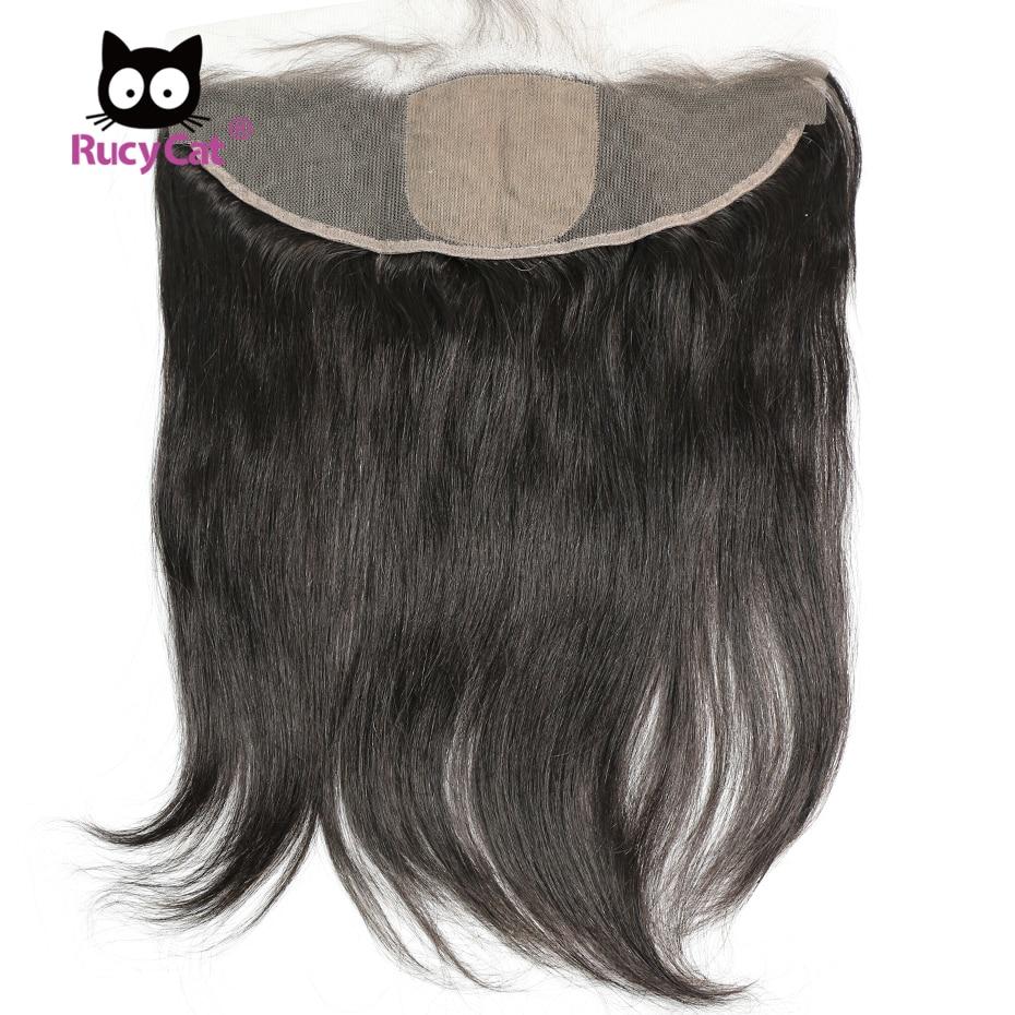 RucyCat Silk Base Frontal 13*4 Brazilian Virgin Hair Straight Virgin Human Hair Top Closure