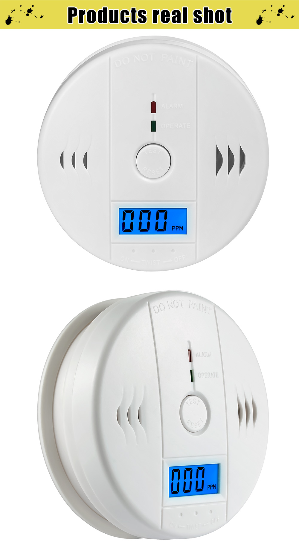 Carbon Monoxide Alarm Detector 4