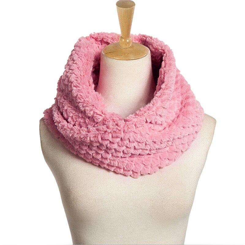 ヾ(^▽^)ノDe Punto bufanda caliente suave lana 2 círculos anillo ...