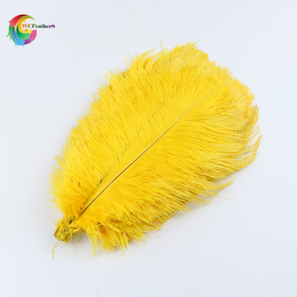 free shipping 50pcslot gold ostrich feather 30-35 cm  12 -14 inches feathers for craft wedding party decorations accessories