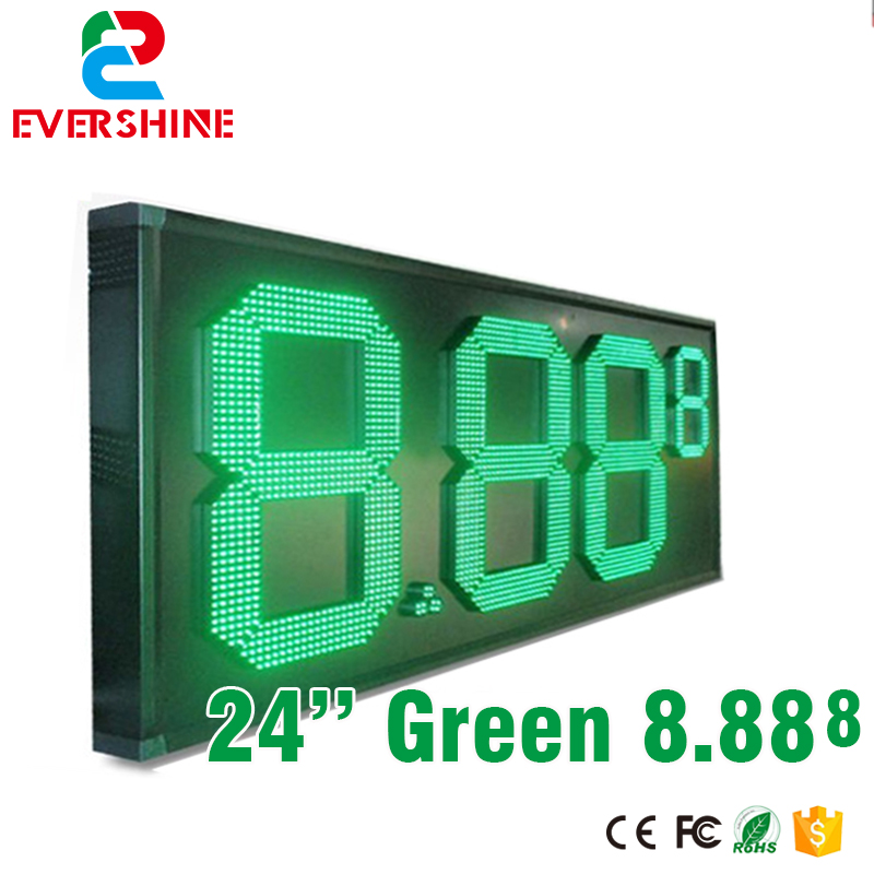 7 segment led gas price signs 12V led module of 24 green color digital numbers module led board 100 pcs ld 3361ag 3 digit 0 36 green 7 segment led display common cathode