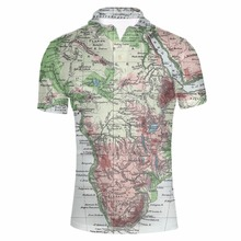 FORUDESIGNS Wholesale Mens World Map Printed  Shirt Male Summer Short Sleeve Party Colorful Tee Stylish Loose Fit Tops XXXL