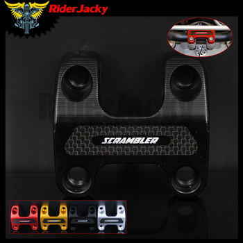 RiderJacky D28MM Motorcycle CNC HANDLEBAR CLAMP Bracket Upper For Ducati SCRAMBLER FULL THROTTLE 800 2018
