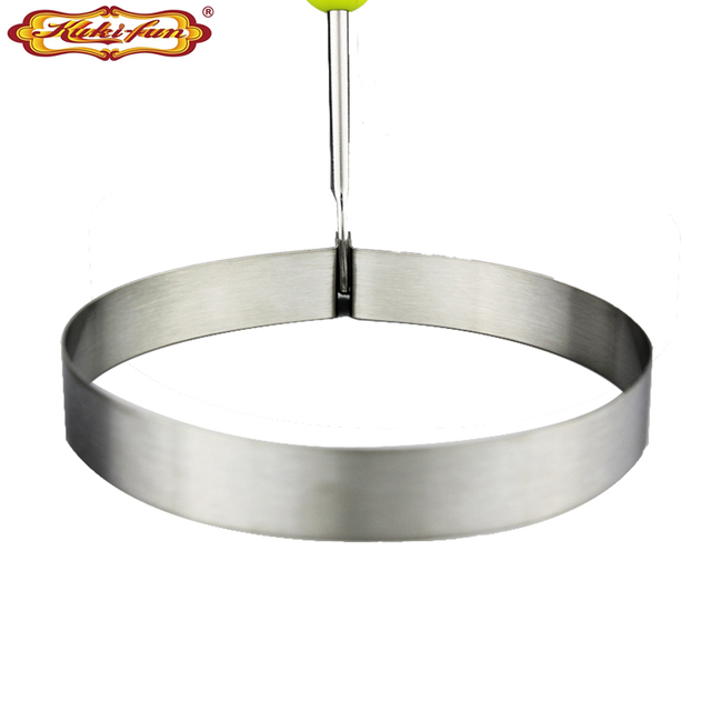 Kuki-fun Heart-shaped Circle The Plum Blossom Five-star 3 Inch Hot Stainless Steel Frying Eggs; Preventer