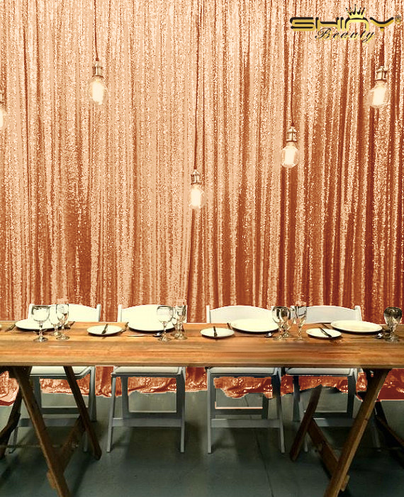 Big Size 20x10FT Sequin Backdrop Stage Wedding Rose Gold Sequin Backdrop Curtains for Photography