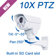 New FULL HD 2MP 1080P MINI PTZ 10X optical zoom auto focus IP onvif IR 60M outdoor SD Card slot Network security cctv Camera