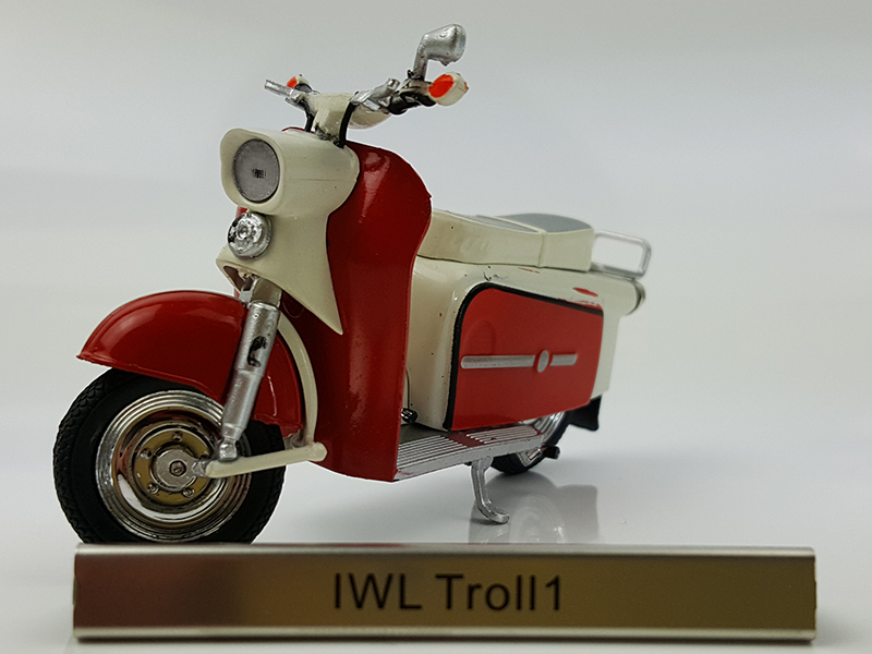 Rare 1:24 IWL Troll1 alloy model motorcycle model Collection model ...