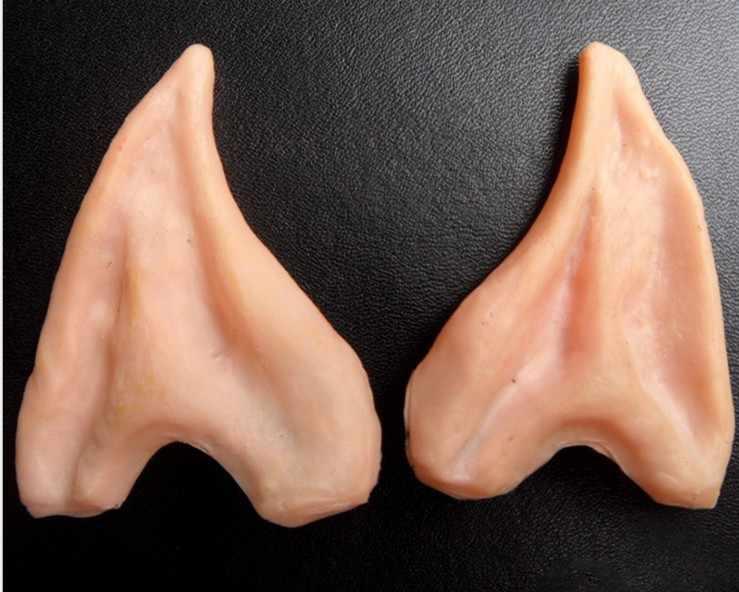 1 пара Хэллоуин призрак фестиваль макияж танец реквизит Моделирование Sharp уши ролевая весело приколы шутки игрушка