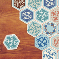 YOUMAN DIY Baby Room Self Adhesive Wallpaper Morocco Decor Floor Stickers Geometry Removable Self Adhesive Contact Paper Wall