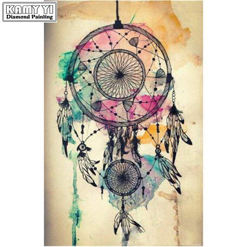 Diamond Embroidery Painting Indian dreamcatchers home decor Mosaic Crystal Embroidery Cross Square Diamond Drill Painting