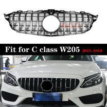 For Mercedes C class W205 GT R GTR grille C180 C200 C250 C300 Without emblem With Camera 2015-2018