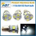 10 pçs/lote 12 V/13 V DC AC 6000 K 0.2 W 1156 Ba15s #89 lager Pinabll baioneta 9 * 5050SMD Luzes led para máquina de jogo de pinball partes