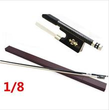 High quality violin bow size 1/8 violino Ebony wood Bow Top Horse hair violin accessory bow accessories para violino with Case