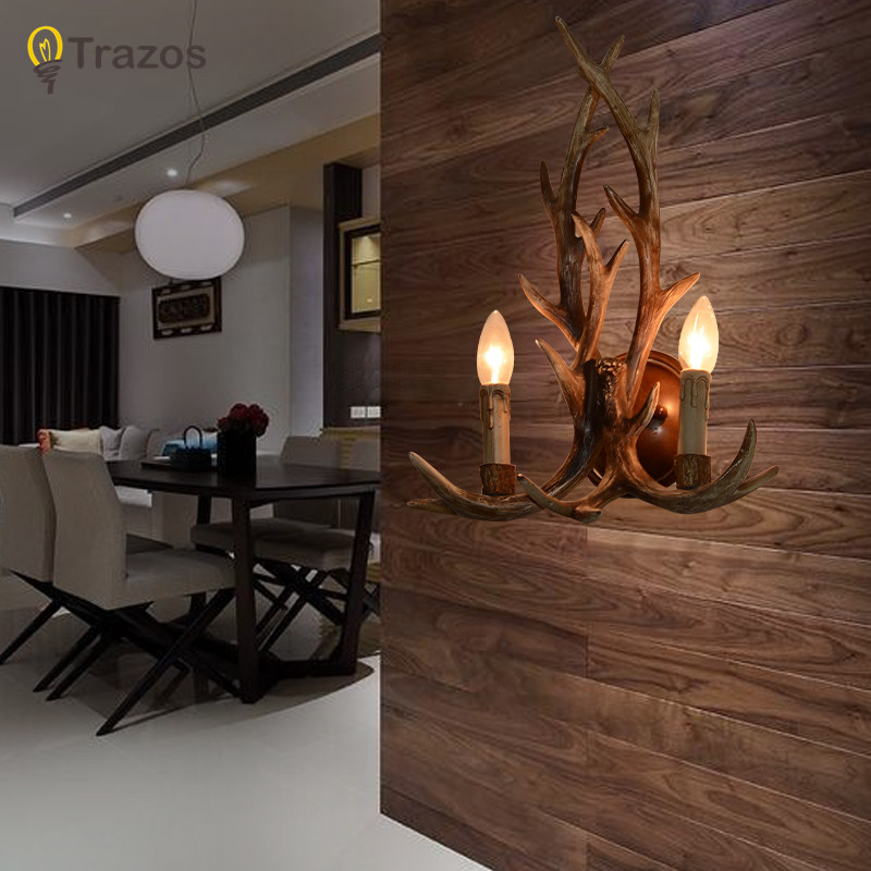 Retro country style deer shape Wall Lamp hot sale in 2015 Corridor light for home decoration Lampara de pared corean hot sale fashion and retro style rose shape design necklace