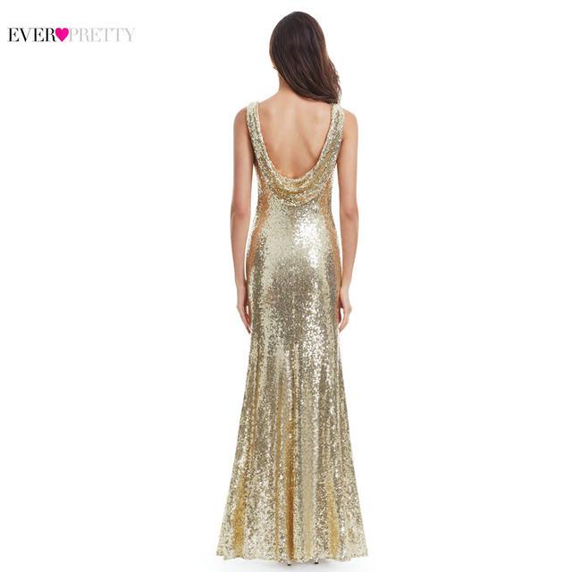 Online Shop Gold Long Evening Dress Ever Pretty Back Cowl Neck ...