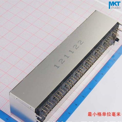 1 Uds. Muestra 2x8 puertos 59 Series pila-up hembra RJ45 Ethernet red PCB LAN clavija conector hembra
