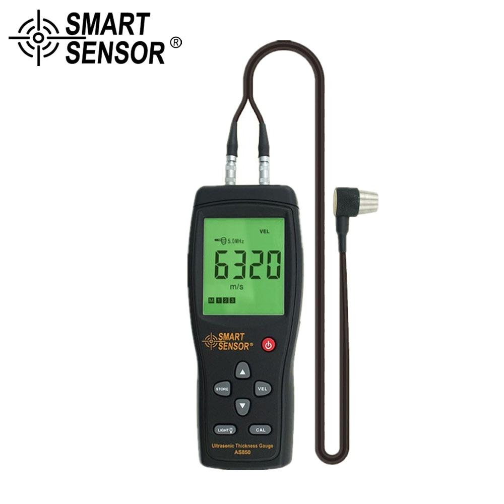 SMART SENSOR Digital Ultrasonic Thickness Gauge Tester Industrial Metal Car Steel Width Measuring Instrument 1.2 to 225mm dmdg d03 ultrasonic smart car mounted holder w hc sr04 ultrasonic sensor distance measuring module
