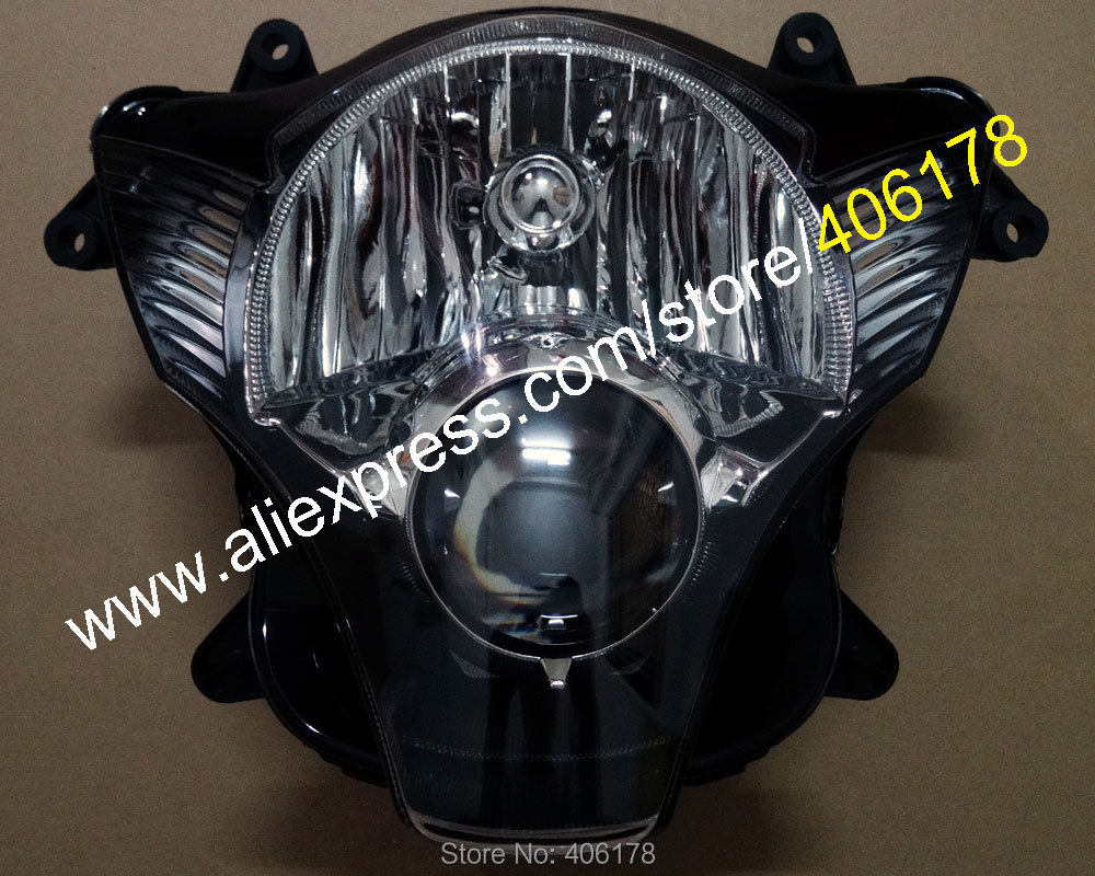 Hot Sales,Motorcycle Headlight Assembly For Suzuki GSX-R600/750 2006 2007 k6 GSXR 600 750 06 07 Front Head Light Lamp Parts Lens aftermarket free shipping motorcycle parts for motorcycle 2006 2007 suzuki gsxr 600 750 2005 2008 gsx r 1000 chrome