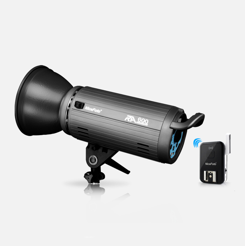 NiceFoto photography lights RA-600 600W Studio Flash Built-in 2.4GHz remote control fast ...