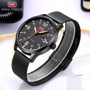 Image 4 - MINI FOCUS Men Watches Stainless Steel Waterproof Luxury Brand Fashion Quartz Watch Relogio Masculino Reloj Hombre  Montre Homme