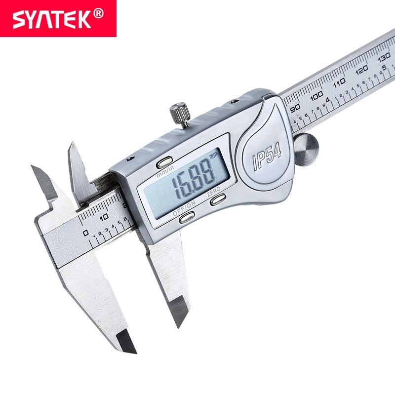 Syntek Vernier Caliper Professional Industrial Waterproof IP54 6 8 12inch 150 200 300mm  Stainless Electronic Digital CE SGS