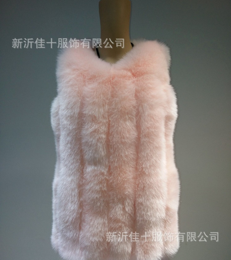 pink Long Col Manteau Dernières De Femmes Conception Mode Red Style Fourrure XSxqavw