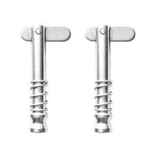 2 Pcs Quick Release Scharnier Pins Marine Hardware 316 Edelstahl Fit Für Boot Top Deck Scharnier Silber 1,29 Zoll