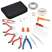 High Quality Handmade Earrings Necklace Jewelry Tools Set Pliers Stick Mandrel Handle Hammers Measuring Stick Clasp Cables Pins