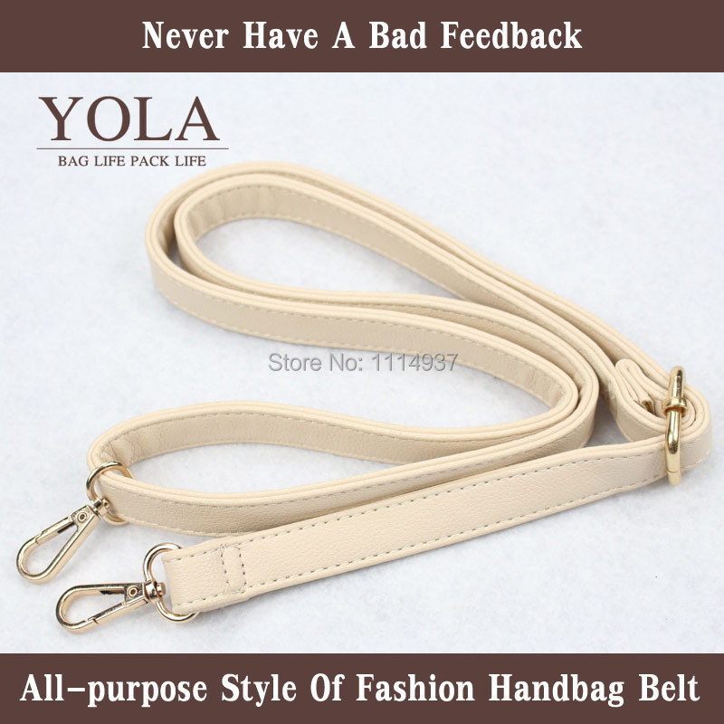 Free shipping PU leather belt male and female bag shoulder straps 2 0cm
