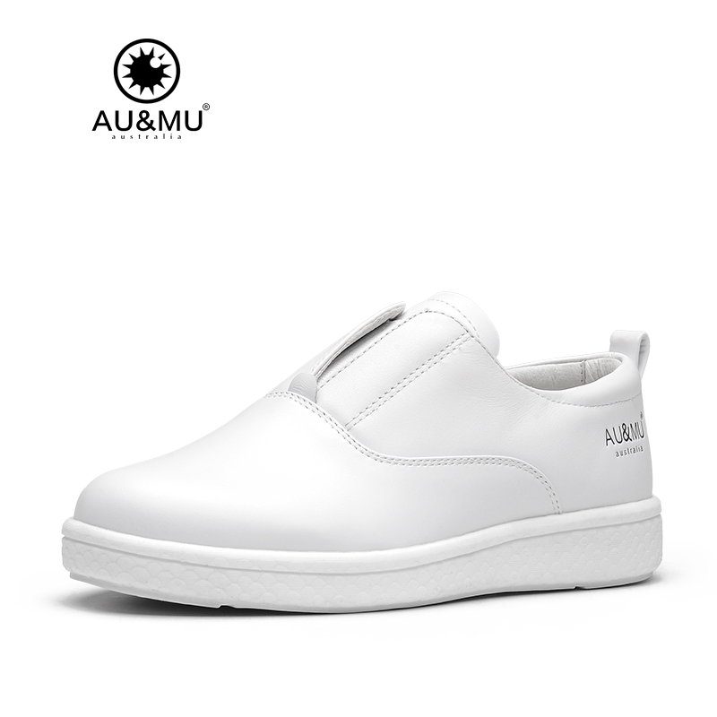 2018 AUMU Australia Classic Modern Society Low-top All-white Casual Sneakers G901 2018 aumu australia rhinestone shiny