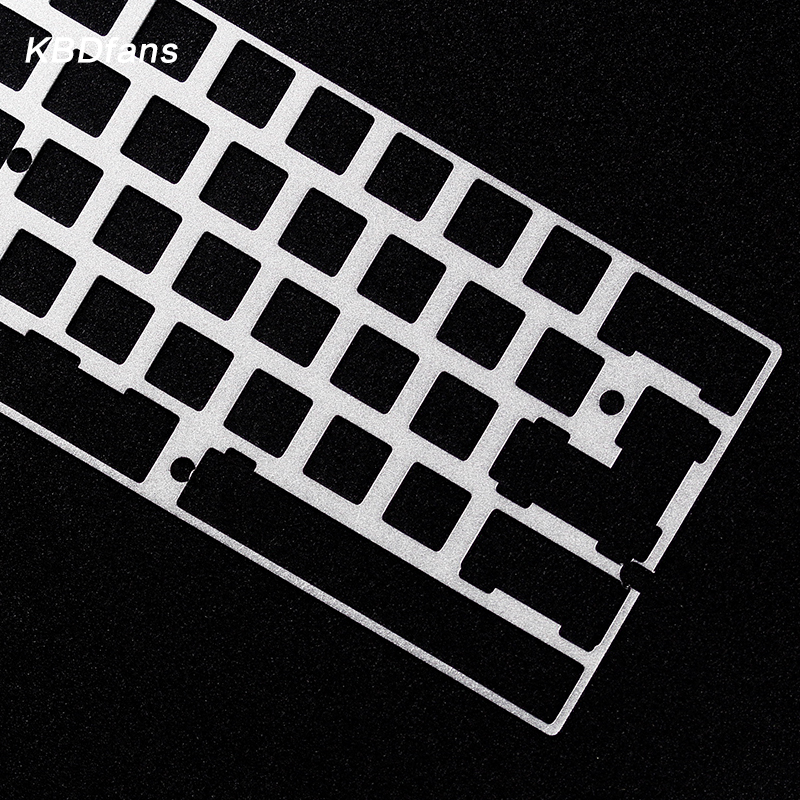 Alu plate for gh60 dz60 plate 2u left shift 2 25u left shift diy mechanical  keyboard tina plate