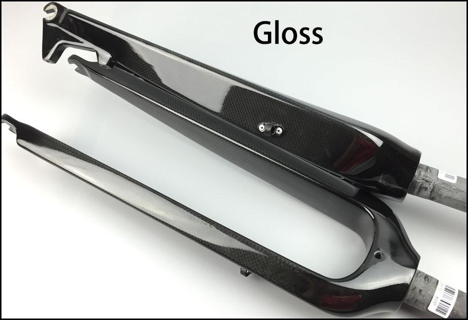 Ultra-light 29er rigid carbon MTB conical fork 1 1/2 pass-through carbon rod brake disc mountain bike fork 160 / 180mm eric barr j valuing pass through entities