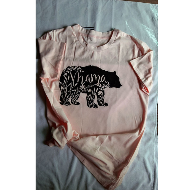 0c6dd40893741 Floral Mama Bear T Shirt Pregnancy Reveal Shirts Mother's Day T-shirts Tees  Baby Shower Gifts for Mom Tops Summer