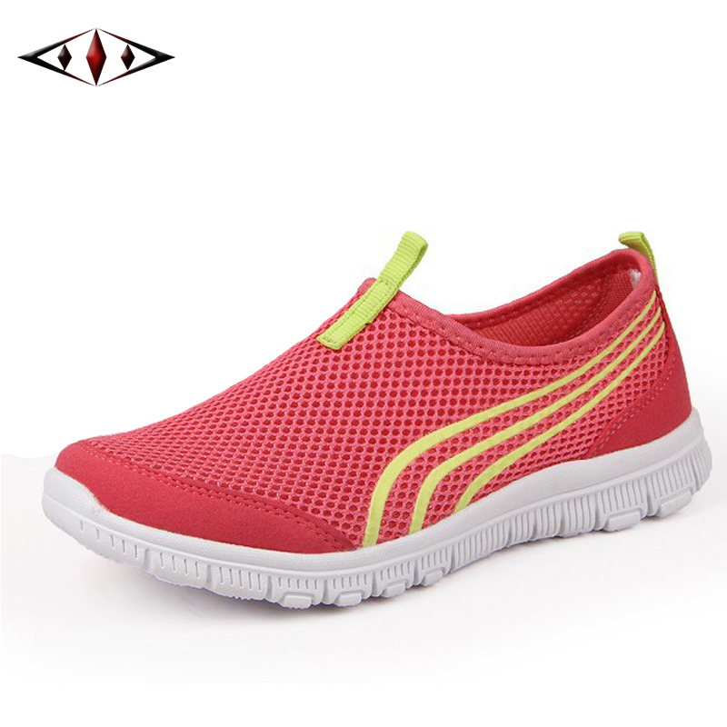 2016 New Women Light Sneakers Summer Breathable Mesh Female Running font b Shoes b font LadyTrainers