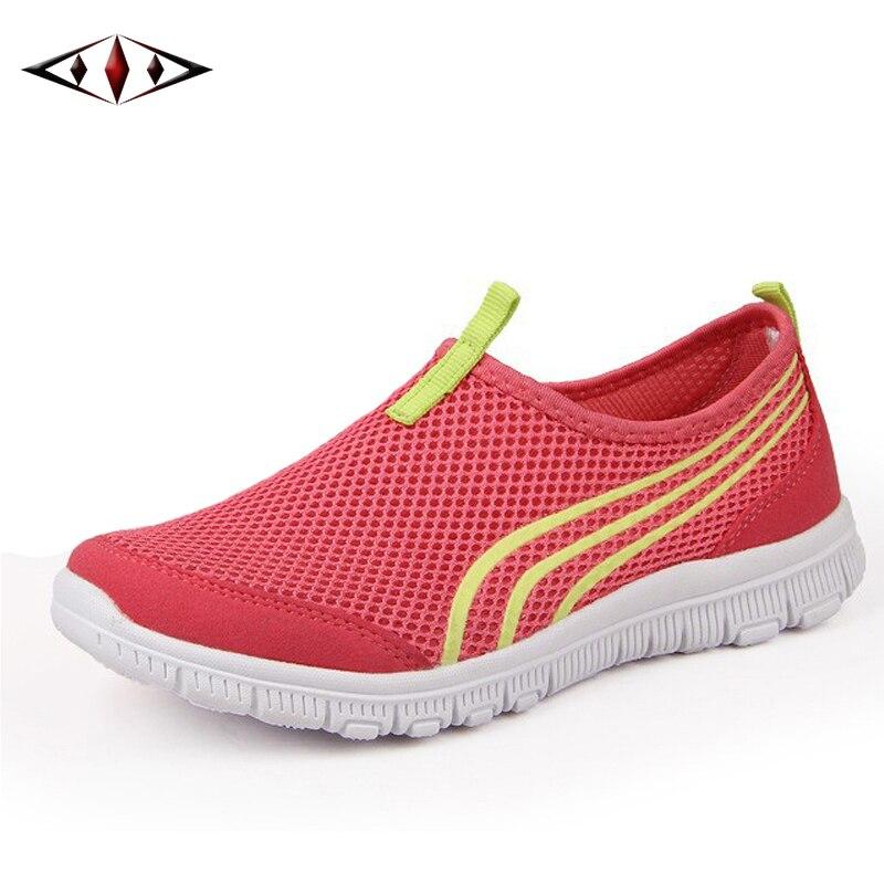 Nuevas Mujeres Ligeras Zapatillas de deporte de Verano de Malla Transpirable Za