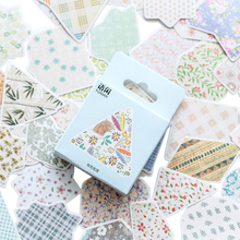 50pcs/pack Cloth life boxed stickers Scrapbooking Stick Label DIY Diary Decoration Card making Album Stickers