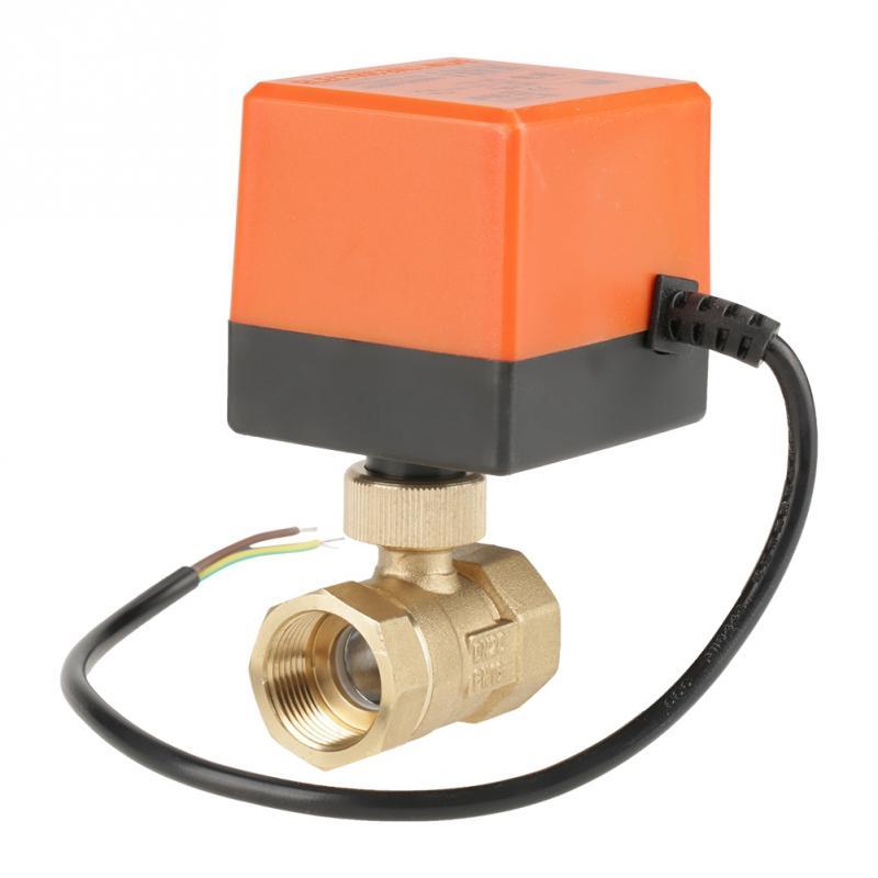 Sanitär Ac 220 V G3/4 dn20 2 Weg Messing Motorisierte Antrieb Ball Ventil Für Klimaanlage Hohe Qualität Heimwerker