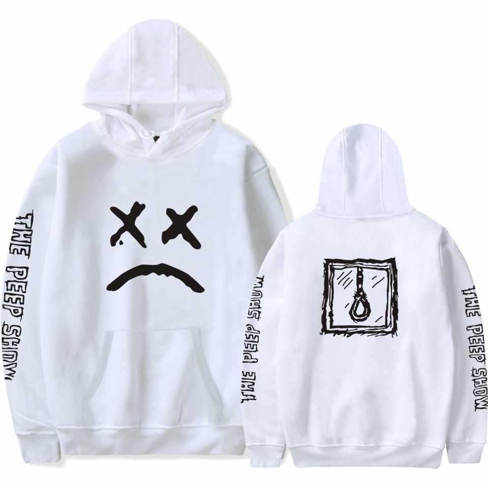 LUCKYFRIDAYF 2018 Lil Peep ฤดูใบไม้ผลิผู้หญิง/ชายเสื้อ Hoodies แขนยาว Hip Hop Hoodies ลำลองขนาดที่กำหนดเอง