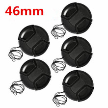 10pcs/lot 46mm center pinch Snap on cap cover for camera 46 mm Lens