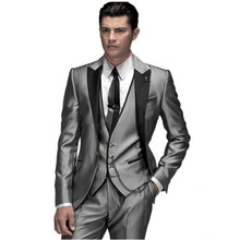Custom Made Navy Blue Men Suit, Tailor Made Suit, Bespoke Men Wedding Suit, Slim Fit Groom Tuxedos For Men(Jacket+Pants+Vest)