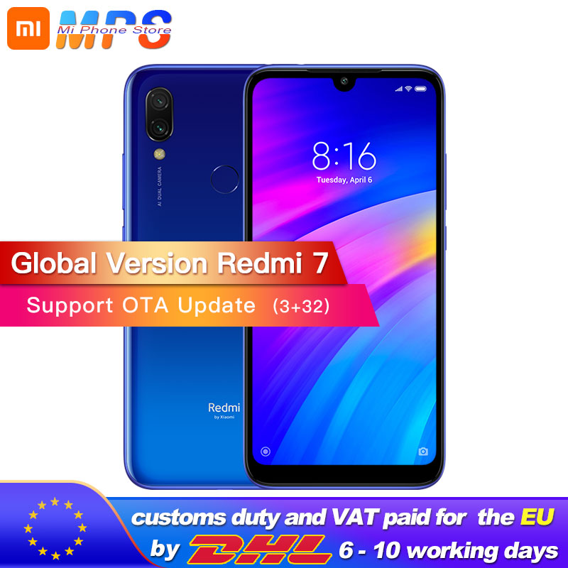 Global version Xiaomi Redmi 7 3GB 32GB mobile phone Octa Core Snapdragon 632 Mobile phone 4000mAh