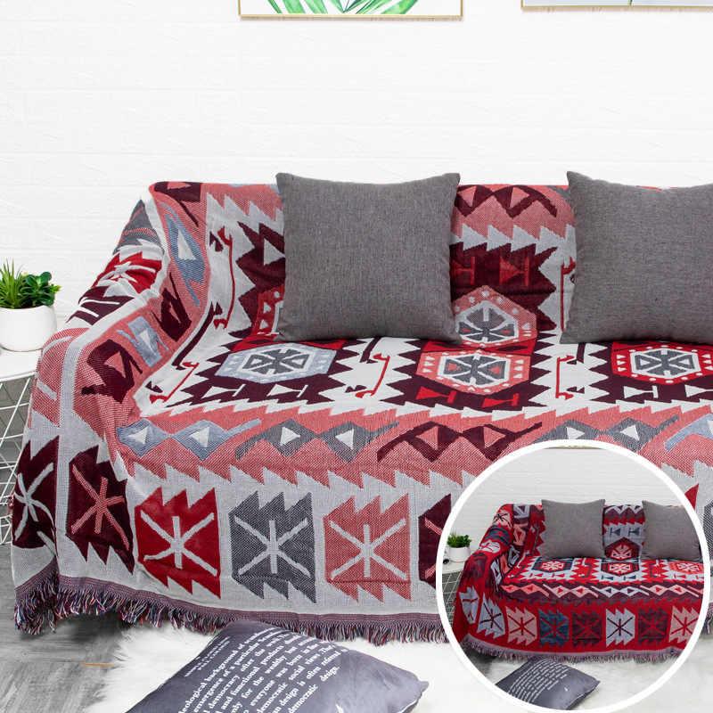 JaneYU Nórdico Puro Cheio Coberto Ins Liberação Do Sofá Sofá Sofá Toalha Tampa Do Sofá Sofá Cobertor Único Simples Capa de Almofada