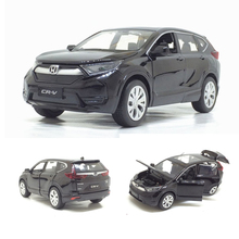 1/32 Honda CR V Diecasts Toy Vehicles Car Model With Sound Light Pull Back Car Toys For Children Birthday Gift Collection